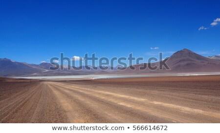 砂漠 山 青空 道路 深い ストックフォト © pixelsnap