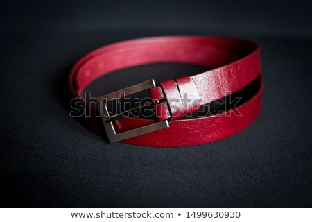 Silver buckles over red background Stock photo © simply