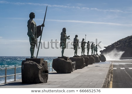Statue of Guanche king at Tenerife stock photo © Musat