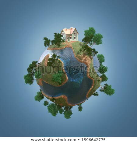 Vert terre herbe 3D affaires ciel Photo stock © chrisroll