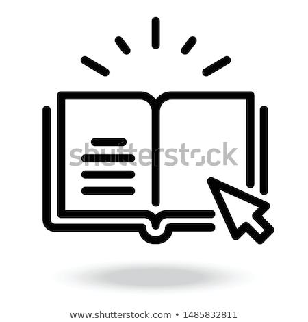 Imleç öğrenmek beyaz el yeşil Stok fotoğraf © cla78