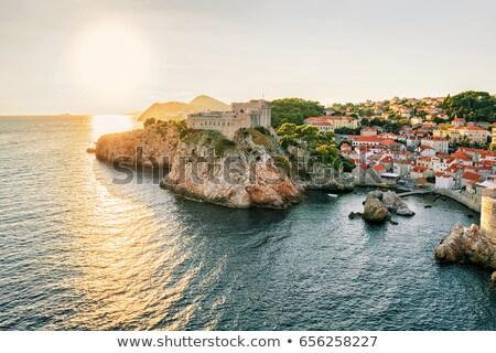 Сток-фото: острове · форт · мнение · морем · Дубровник · Хорватия