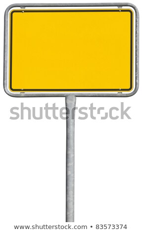 Plaatsing teken geïsoleerd witte metaal Stockfoto © gewoldi