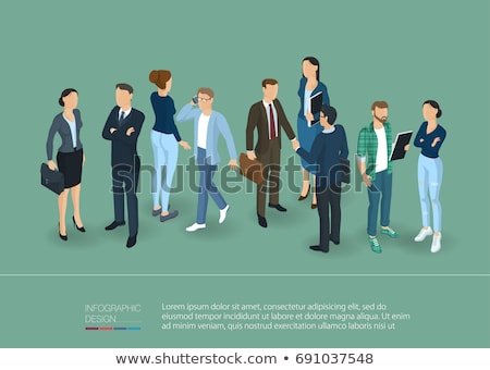 abstract people poses stock photo © dvarg