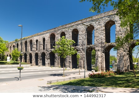 Valens Aqueduct in Istanbul Stock photo © rognar