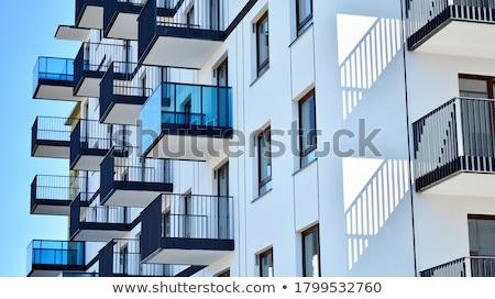 Pormenor edifício moderno arquitetura moderna edifício parede Foto stock © Hofmeester