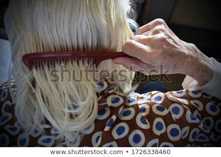 brunetka · włosy · piękna · portret · młodych - zdjęcia stock © lovleah
