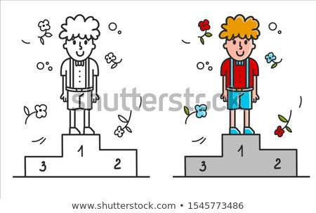 Boy on the podium Stock photo © deyangeorgiev