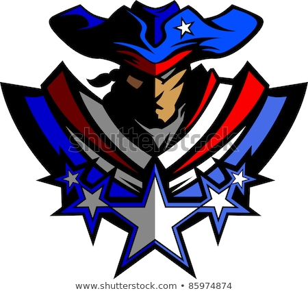 Patriot Mascot with Stars and Hat Graphic Vector Illustration Stock photo © chromaco