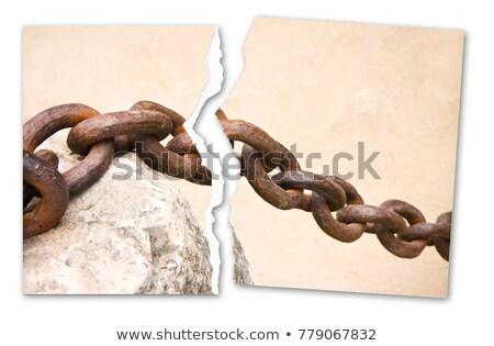 gyenge · pont · szomorú · üzletember · törött · lánc - stock fotó © andreykr
