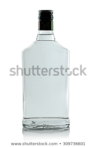 Stock photo: bottle of vodka isolated on white background