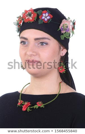Woman With Lacy Headscarf Stock photo © peterveiler