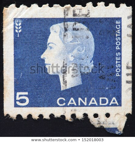 CANADA-CIRCA 1962: A stamp printed in CANADA shows image of Elizabeth II stock photo © flariv