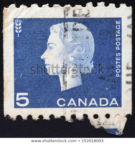CANADA-CIRCA 1962: A stamp printed in CANADA shows image of Elizabeth II Stock photo © flariv