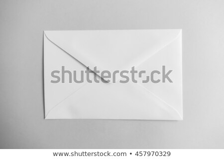 Сток-фото: воздуха · почты · конверт · изолированный · черный · дизайна