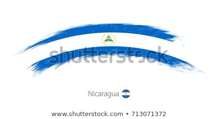 Grunge bayrak Nikaragua eski bağbozumu grunge texture Stok fotoğraf © HypnoCreative
