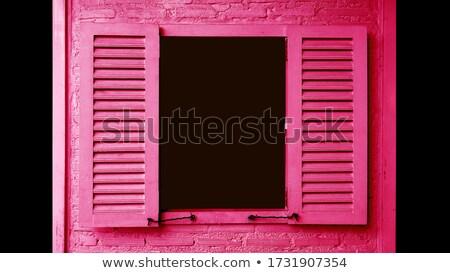 Window with dark magenta shutters Stock photo © Ximinez