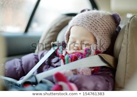 Ragazza dormire poltrona ritratto bella Foto d'archivio © zastavkin
