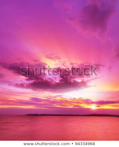 majestic sunset over the sea vertical composition stock photo © moses