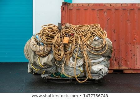 fishing trawler parked up stock photo © morrbyte