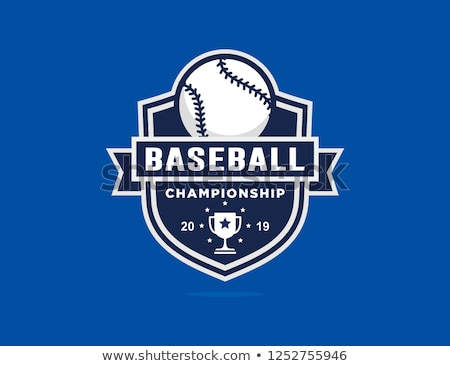 Сток-фото: Baseball Vector Graphic Template With Stars