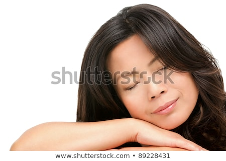 w · średnim · wieku · asian · kobieta · piękna · portret - zdjęcia stock © ariwasabi