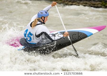Kajakken tiener meisje sport rivier Stockfoto © clearviewstock