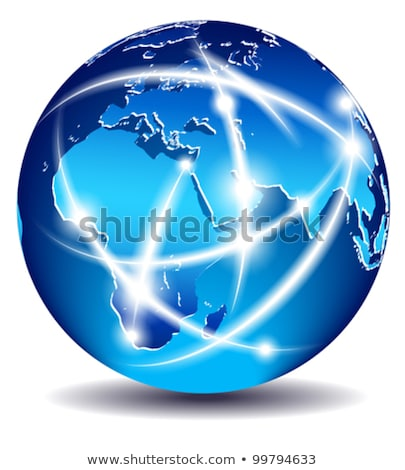 Communication monde mondial commerce Europe Moyen-Orient Photo stock © fenton