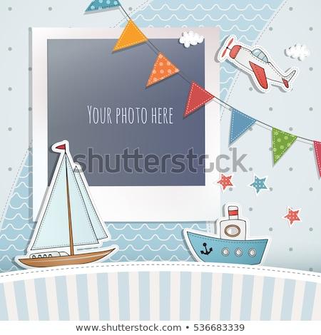 Birthday photo frame for boy Stock photo © gladiolus