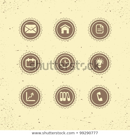 set of retro icons business theme stock photo © annavolkova