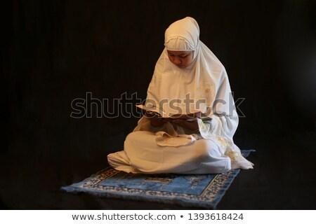 Kadın oturma dua eden güzel el Stok fotoğraf © privilege