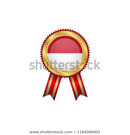 Indonesia rosette flag Stock photo © milsiart