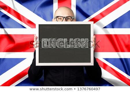 brit · ventillátor · integet · vidék · zászló · izolált - stock fotó © stockyimages