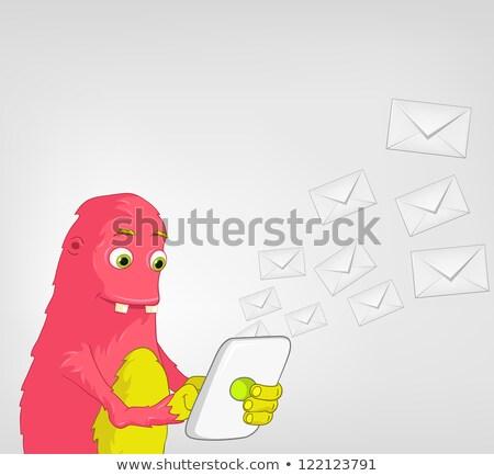 Engraçado monstro comprimido usuário isolado Foto stock © RAStudio