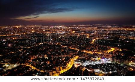 Bucarest · noche · río · Rumania · edificio - foto stock © johny007pan