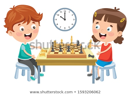 Little girl playing chess Stock photo © photography33