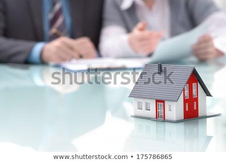 építész modell lakásügy birtok felirat boldog Stock fotó © photography33