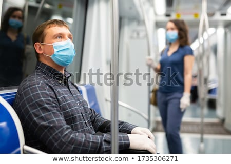 portrait of a man in public transportation Stock photo © photography33