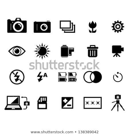 macro image of a digital cameras controls set on auto stock photo © haiderazim
