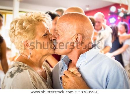 édes · pár · tánc · fehér · zene · férfi - stock fotó © feedough
