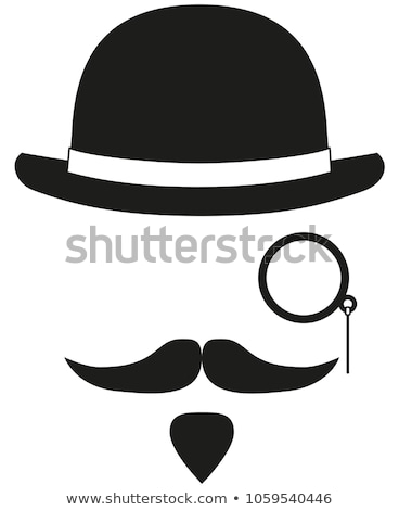 mustache and spectacles vector set stock photo © beaubelle
