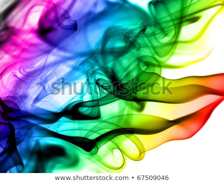 Abstract Colorful Fume Pattern On White Stok fotoğraf © Arsgera