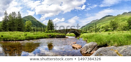 panoramic view of Loch Lomond Stock photo © prill