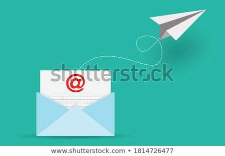 E-mail is sent to the network from a laptop Stock photo © a2bb5s
