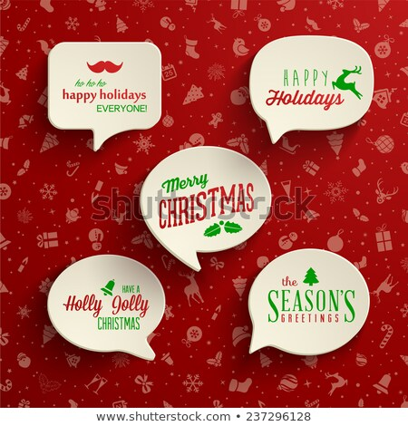 Red Speech Bubble With Christmas Icon Stock photo © adamson