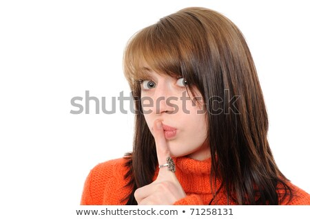 Women says ssshhh to maintain silence Stock photo © get4net