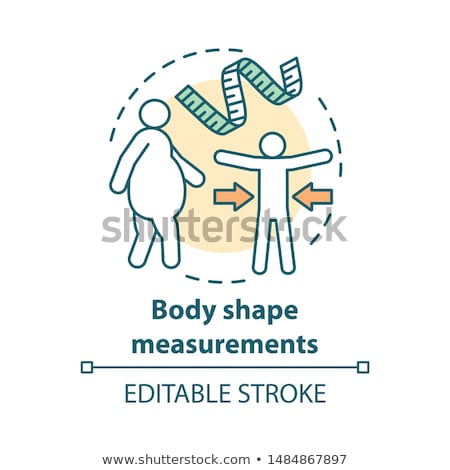 Obesidad control mujer grasa estómago cuerpo Foto stock © timbrk