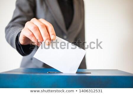 Seçim oylama Almanya çizim bayrak yeşil Stok fotoğraf © stevanovicigor