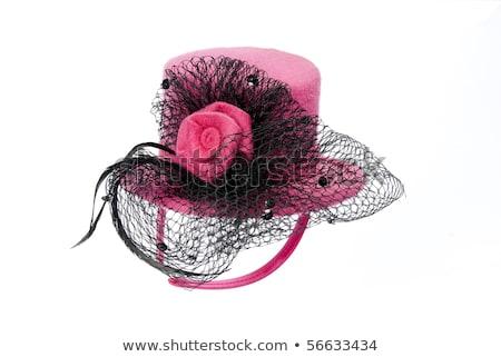Femminile Hat velo isolato donne sexy Foto d'archivio © alexandkz