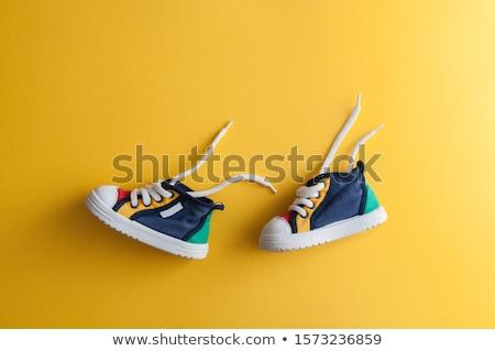 Küçük bebek spor ayakkabı mavi Stok fotoğraf © compuinfoto